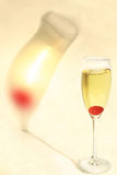 Champagne Cherry Shadow Stock Photo