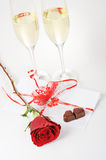 Champagne  and chocolate Stock Photography