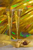 Champagne and chocolates Royalty Free Stock Images