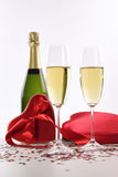 Champagne and chocolates for Valentine's Stock Image