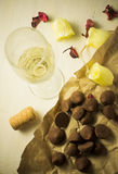Champagne and chocolates Royalty Free Stock Image