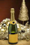 Champagne at christmas Royalty Free Stock Photography