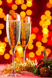 Champagne at Christmas Royalty Free Stock Photos