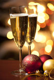 Champagne at Christmas Stock Photo