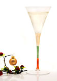 Champagne and Christmas Stock Images