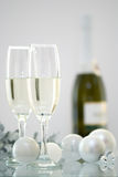 Champagne At Christmas Royalty Free Stock Photo