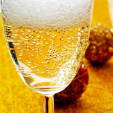 Champagne christmas balls Royalty Free Stock Photography