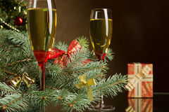 Champagne for Christmas Stock Image