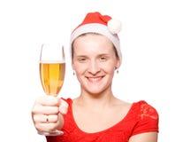 champagne christmas girl glass Στοκ εικόνες με δικαίωμα ελεύθερης χρήσης