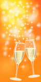 Champagne for christmas or new year Royalty Free Stock Photography