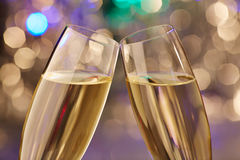 Champagne christmas new year glas Stock Image