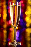 Champagne at christmas party Royalty Free Stock Photo