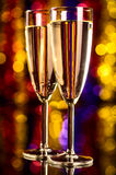 Champagne at christmas party Stock Photos