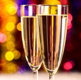 Champagne at christmas party Royalty Free Stock Photos