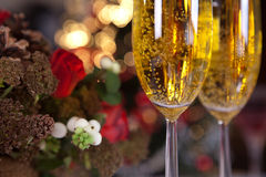 Champagne and christmas tree 1 Royalty Free Stock Images
