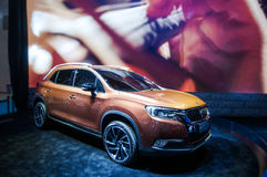 A champagne Citroen SUV. Take on the 16th Chongqing International Motor Show, June 6th-12th, 2014. There are many international famous brand companies and Royalty Free Stock Photography