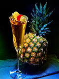Champagne  cocktail with cherry and pineapple 31 Stock Image