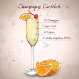 Champagne cocktail Stock Photography