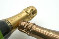 Champagne contro Champagne Immagine Stock Libera da Diritti
