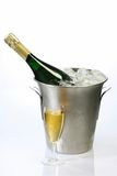 Champagne in a cooler Stock Images