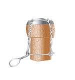 Champagne cork stock illustration
