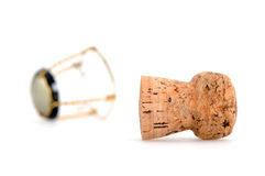 Champagne cork. In front of a white background Stock Image