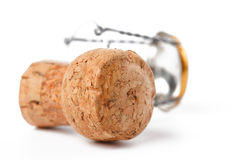 Champagne cork. The photo shot of champagne cork on white background Stock Photography
