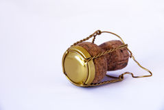 Champagne cork. A Champagne cork on withe background Royalty Free Stock Photos