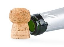 Champagne and cork Royalty Free Stock Photography
