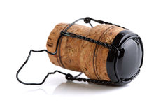 Champagne cork. On white background Stock Images