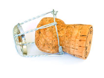 Champagne cork. Isolated on a white background Stock Image