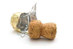 Champagne cork. On a white background Stock Image