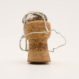 Champagne cork. On a white background royalty free stock images