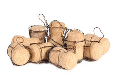 Champagne cork four Royalty Free Stock Image