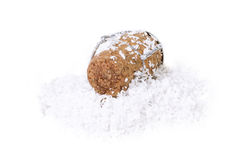Champagne cork in the snow Stock Image