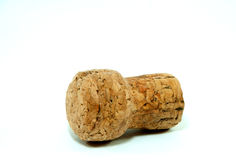 Champagne cork on white background. Champagne cork put on white background royalty free stock image