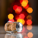 Champagne cork. Champagne wine cork on abstract blur background Royalty Free Stock Photo