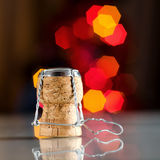 Champagne cork. Champagne wine cork on abstract blur background Stock Photo