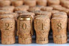 Champagne Corks 2018 Images libres de droits