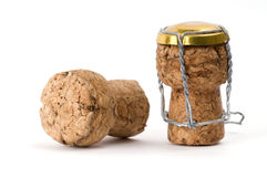 Champagne Corks stock image