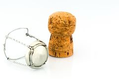 Champagne corks and clasp Royalty Free Stock Photo