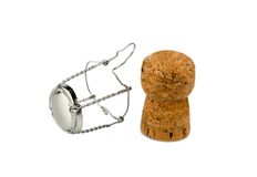 Champagne corks and clasp Royalty Free Stock Photography