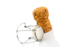 Champagne corks and clasp Stock Photo