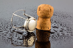 Champagne corks and clasp Stock Photography