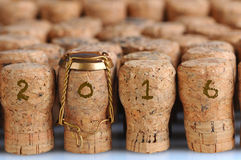 Champagne Corks for 2016 Stock Image