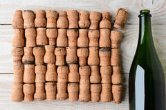 Champagne and Corks Closeup Stock Image