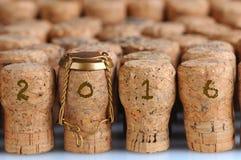 Champagne Corks para 2016 Imagem de Stock