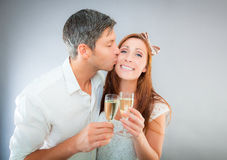 Champagne couple party Stock Image