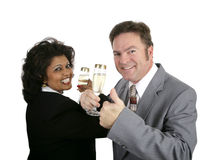 Champagne Couple Thumbsup Stock Image