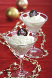 Champagne cream with chocolate candy Stock Photography